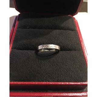 カルティエ(Cartier)のカルティエ エングレーブドリング PT950 (リング(指輪))