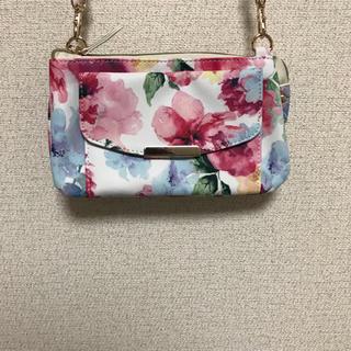 シマムラ(しまむら)のお財布ショルダー バッグ  長財布 水彩画 花柄(財布)