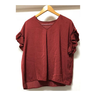 ジーユー(GU)のフリル ブラウス(シャツ/ブラウス(半袖/袖なし))
