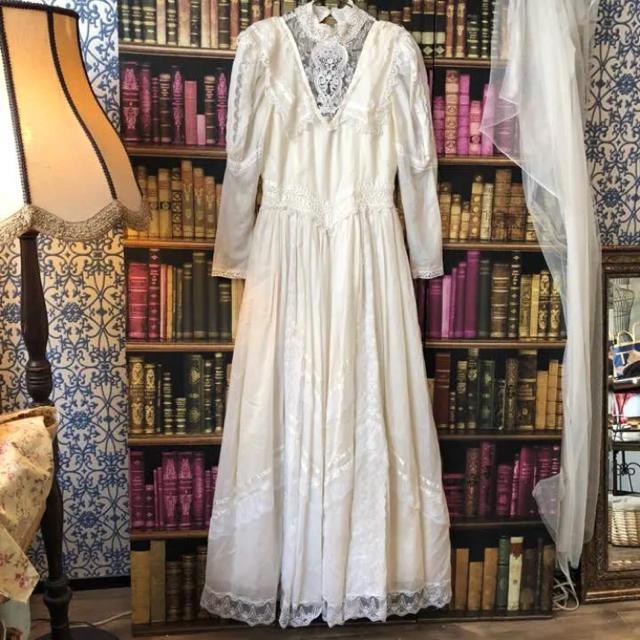 2e9120f8ea2b8 明日まで限定値下※ヴィンテージウエディングドレス レディースのフォーマル ドレス(