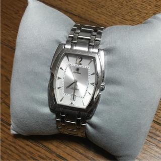 シーマ(CYMA)のシーマ 腕時計 クォーツ CYMA メンズ シルバー文字盤(腕時計(アナログ))