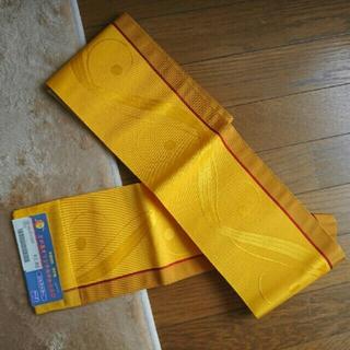 半幅帯 黄色(浴衣帯)