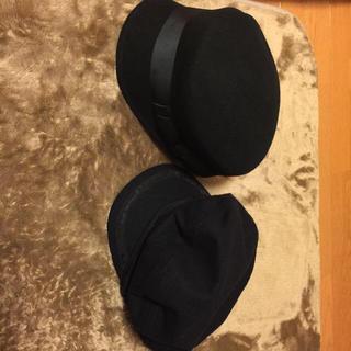 ナイスクラップ(NICE CLAUP)の黒い帽子2個セット(キャスケット)