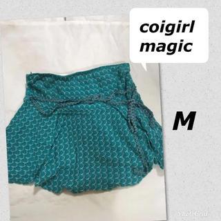 コイガールマジック(CoiGirlMagic)のコイガールマジック グリーン ミニスカート M 150 160 重ね着に(ミニスカート)