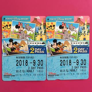 ディズニー(Disney)のディズニー リゾートライン 2days パス 電車 チケット フリーパス(鉄道乗車券)