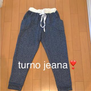 トゥールノジーナ(turno jeana)のturno jeana  スウェットパンツ  ラメ(カジュアルパンツ)