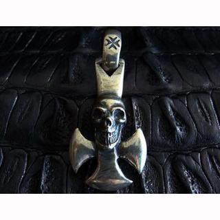 ガボール(Gabor)のGABOR ガボール Round Cross w/skull ペンダント(その他)