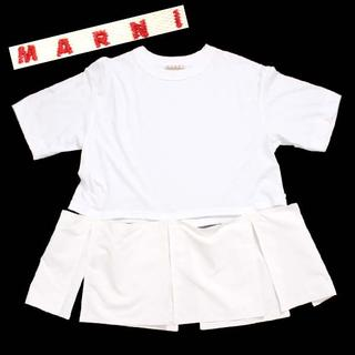 マルニ(Marni)のMARNI カットアウトディテール Tシャツ size40 ホワイト(Tシャツ(半袖/袖なし))