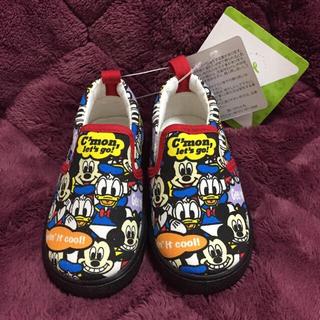 ディズニー(Disney)の新品タグ付き ディズニー カラフル スリッポン 14cm(スリッポン)