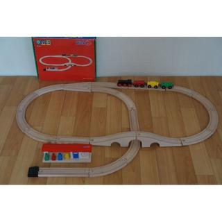 ボーネルンド(BorneLund)のch様専用   (micki)の木製レール 汽車セットスタンダード(電車のおもちゃ/車)