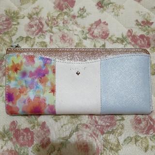 ヨンドシー(4℃)の美品☆ルリア4℃ 花柄 長財布(財布)