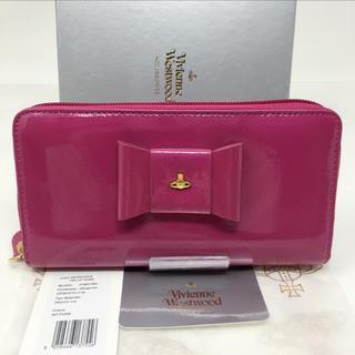 ヴィヴィアンウエストウッド(Vivienne Westwood)の新品☺︎Vivienne Westwood 長財布 リボン ピンク エナメル(財布)
