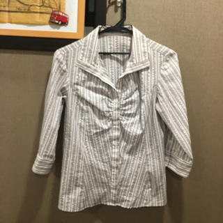 ムジルシリョウヒン(MUJI (無印良品))のストライプ柄 七分袖シャツ(シャツ/ブラウス(長袖/七分))