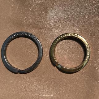 ドルチェアンドガッバーナ(DOLCE&GABBANA)のキーリング 二個セット(キーホルダー)