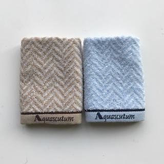 【新品】Aquascutum タオルハンカチ2枚セット