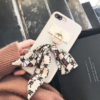 1b2e894f5e シルクスカーフ付き Trendy iPhoneケース Beige(iPhoneケース)