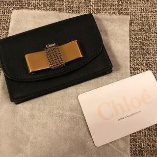 クロエ(Chloe)の新品クロエ Chloe'カードケース 正規品 ブラック(名刺入れ/定期入れ)