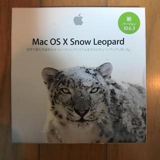 マック(Mac (Apple))のmac os x snow Leopard 10.6.3 インストールDVD(その他)