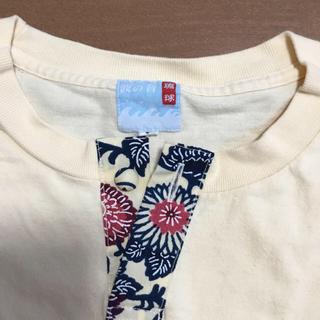 シュガーケーン(Sugar Cane)の波の音 ヘンリーネック紅型Tシャツ(Tシャツ/カットソー(半袖/袖なし))