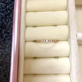 アガット(agete)のアガット K10ダイヤモンド ピンキーリング 5号(リング(指輪))