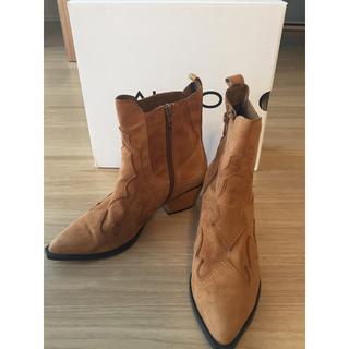 アルド(ALDO)のALDO アルド ウエスタンブーツ ショートブーツ 37 23-23.5 幅狭(ブーツ)
