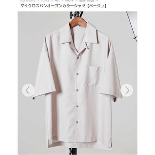 ハレ(HARE)のオープンカラーシャツ ベージュ(シャツ)