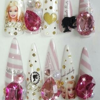 Shrn9様オーダネイル+Barbie