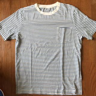 ムジルシリョウヒン(MUJI (無印良品))の無印良品 メンズボーダーTシャツ サイズM(Tシャツ/カットソー(半袖/袖なし))