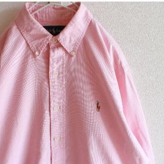 ラルフローレン(Ralph Lauren)のUS ラルフローレン pink オックスフォード シャツ M(シャツ)