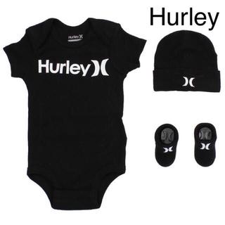 ハーレー(Hurley)の【新品 未使用】Hurley ハーレー ロンパース 80 靴下 帽子 (ロンパース)