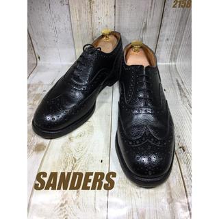 サンダース(SANDERS)のサンダース Sanders フルブローグ 型押し UK9 27.5cm(ドレス/ビジネス)