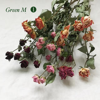 薔薇のドライフラワー約35個のミックスセット❶【79】(ドライフラワー)