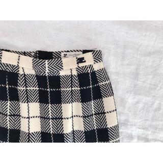 クレージュ(Courreges)のクレージュブロックチェックのレトロスカート(ひざ丈スカート)