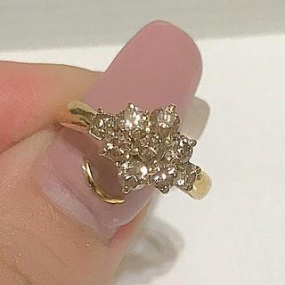 ダイヤモンド リング k18 YG  1ctアップ(リング(指輪))
