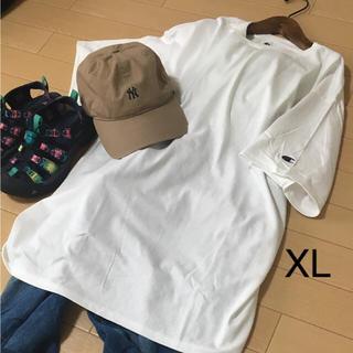 チャンピオン(Champion)の《新品》チャンピオン ビックシルエット 半袖 Tシャツ ロング丈 XL ホワイト(Tシャツ/カットソー(半袖/袖なし))