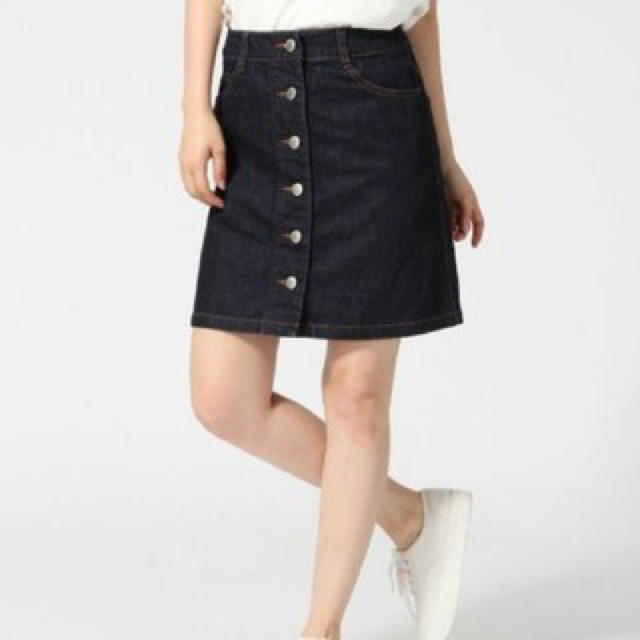 LOWRYS FARM(ローリーズファーム)のLOWRYSFARMの台形デニムスカート レディースのスカート(ミニスカート)の商品写真