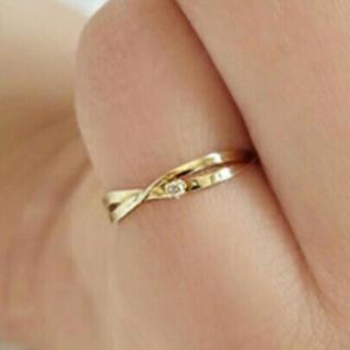 ジュピターゴールドレーベル(jupiter GOLD LABEL)のJUPITER♡K18♡flowing ribbonリング(リング(指輪))