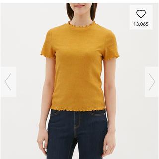 ジーユー(GU)の【値下げ】フリルネック ティシャツ GU 大きいサイズ(シャツ/ブラウス(半袖/袖なし))