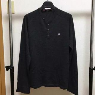 バーバリーブラックレーベル(BURBERRY BLACK LABEL)の美品 バーバリーブラックレーベル ヘンリーネックニット サイズ3(ニット/セーター)
