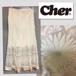 シェル(Cher)の❤︎シェル オーガンジー ベルベット ロングスカート❤︎(ロングスカート)