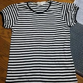【値下げ】ガーリーボーダーTシャツ(Tシャツ(半袖/袖なし))
