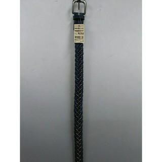 ムジルシリョウヒン(MUJI (無印良品))の新品 無印良品 ヌメ革 手染め編みベルト・ネイビー(ベルト)