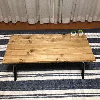 アンティーク風折りたたみ式ローテーブル