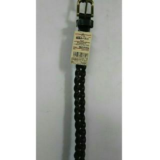 ムジルシリョウヒン(MUJI (無印良品))の新品 無印良品 ヌメ革 細編みベルト・黒(ベルト)