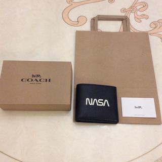 コーチ(COACH)の価格交渉可能商品 本物 COACH NASA コラボ コーチ  二つ折財布(折り財布)