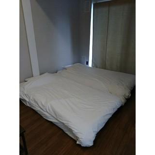 セミダブル 高反発 マットレスベッド 2つ 枕、掛け布団 シーツ付(セミダブルベッド)