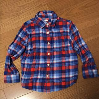 ジーユー(GU)のGU ジーユー チェック シャツ ネルシャツ 110 ユニクロ(ブラウス)