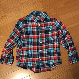 ジーユー(GU)のGU ジーユー チェック シャツ ネルシャツ 120  ユニクロ(ブラウス)