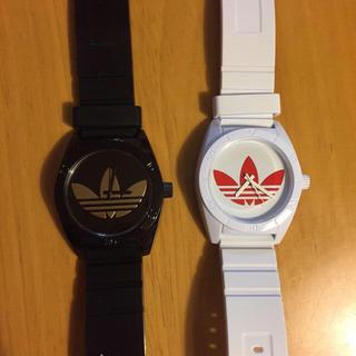 アディダス(adidas)のアディダスオリジナルス*腕時計*ペア*黒*ゴールド*白*赤(腕時計)