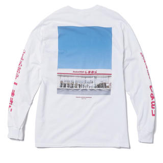 シマムラ(しまむら)のしまむらバックプリント長袖Tシャツ 白(Tシャツ/カットソー(七分/長袖))